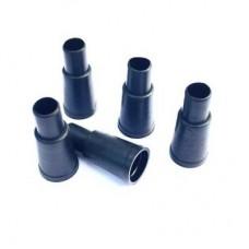 Мундштуки конус с бортом чёрные одноразовые 100 шт