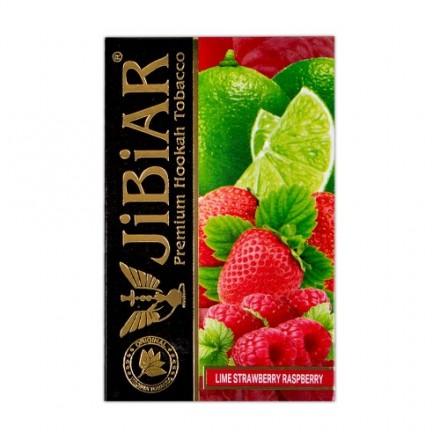 Табак Jibiar Lime Strawberry Raspberry 50 грамм (клубника лайм малина)
