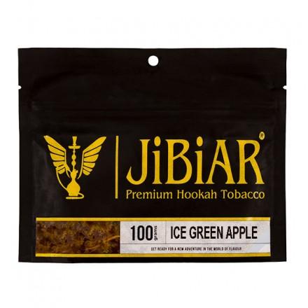 Табак JIBIAR Ice Green Apple 100 грамм (Ледяное Зеленое Яблоко)