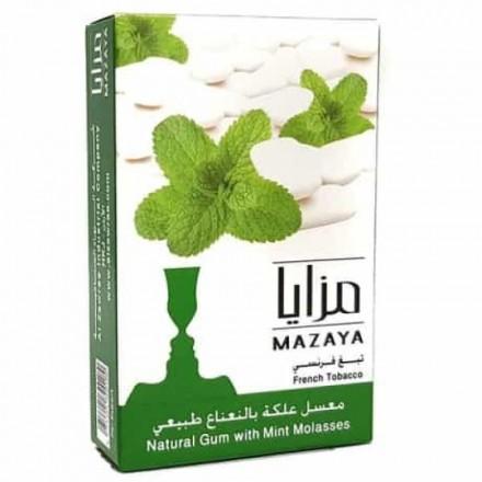 ТАБАК MAZAYA Gum With Mint 50g (жвачка-мята)