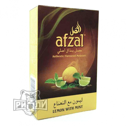 Табак Afzal — Lemon With Mint (Лимон и Мята, 50 грамм)